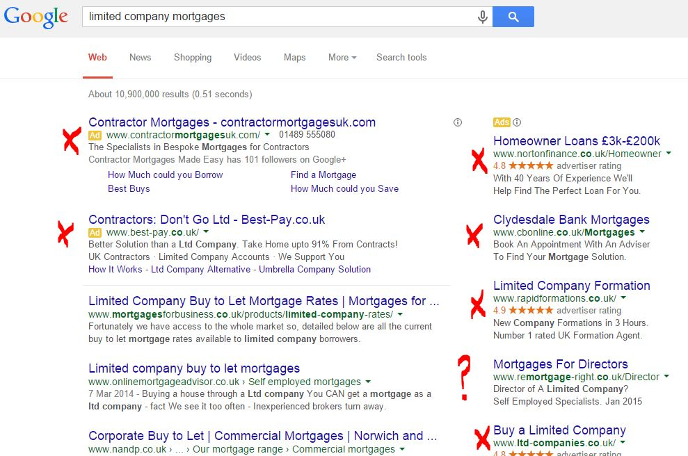 limited company mortgages search